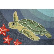 <strong>Liora Manne</strong> Frontporch Ocean Sea Turtle Rug