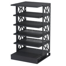 <strong>Raxxess</strong> Tall Steel Pull-Out Rotating Shelving Unit
