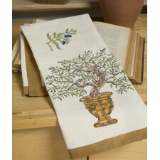 <strong>Couleur Nature</strong> Olive Tree Gold Blue Tea Towel (Set of 3)