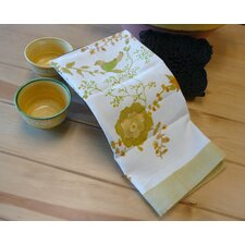 <strong>Couleur Nature</strong> Treetop Yellow Green Tea Towel (Set of 3)