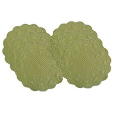 Sonia Reversible Celedon Placemats (Set of 6)