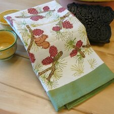 Pine Cone Red Green Tea Towel (Set of 3)
