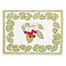 <strong>Couleur Nature</strong> Cherry Red Green Placemat (Set of 6)