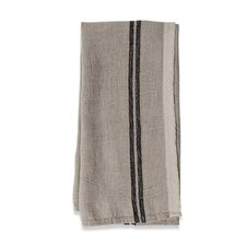 <strong>Couleur Nature</strong> Khadhi Linen Stripe Tea Towel (Set of 2)