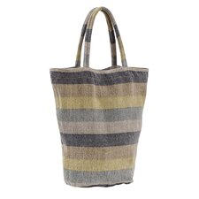 Laundered Stripe Shopping Tote