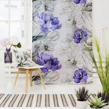 Jardin Unlined Slot Top Single Panel Curtain