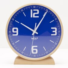 <strong>Wolf Designs</strong> Moderne Round Mantel Clocks