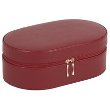 Heritage Chelsea Oval Zip Travel Case in Scarlet