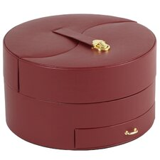 Heritage Chelsea Large Ying Yang Jewelry Case in Scarlet