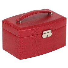 <strong>Wolf Designs</strong> Heritage South Molton Medium Jewelry Box with Travel Case in Red