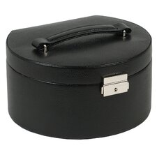 Heritage South Molton Round Jewelry Box with Travel Case in Black