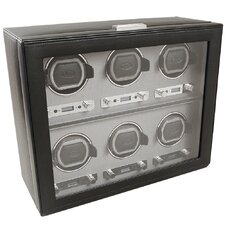 <strong>Wolf Designs</strong> Viceroy Module 2.7 Six Piece Watch Winder with Cover in Black