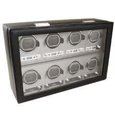 <strong>Wolf Designs</strong> Viceroy Module 2.7 Eight Piece Watch Winder with Cover in Black