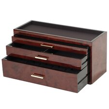 <strong>Wolf Designs</strong> Meridian Three Drawer Storage and Watch Box
