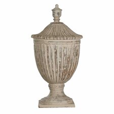 Tall Pottery Decorative Urn