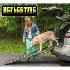 "Tri-Fold Reflective Extra Wide 71"" Pet Ramp"