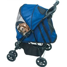 Happy Trails Pet Stroller in Cobalt Blue