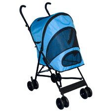 Travel Lite Pet Stroller in Ocean Blue