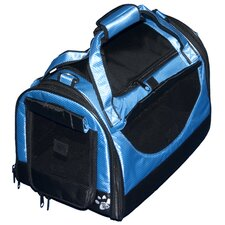 World Traveler Tote Bag Pet Carrier in Caribbean Blue