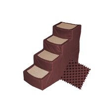 Designer 4 Step Pet Stair with Removable Cover