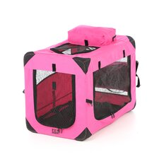 Generation II Deluxe Portable Soft Dog Crate in Pink - Small