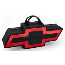 "25"" Bowtie Shaped Canvas Bag in Black with A Red Border"