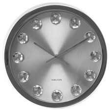 Medium Diamond Round Wall Clock