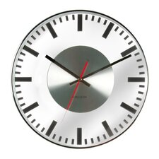 Glass Printed Station Wall Clock