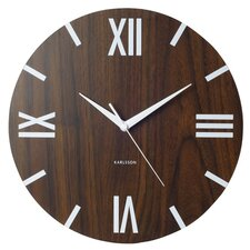 Block Roman Numbers Wall Clock