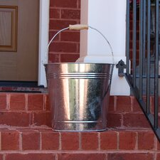 Galvanized Round Bucket Planter