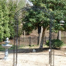 Majestic Garden Arbor With Gate