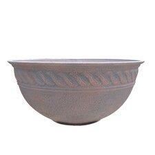 Walnut Round Pot Planter