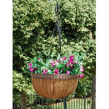 Victorian Queen Anne Round Hanging Planter