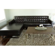 Nolan Faux Leather Left Arm Sectional