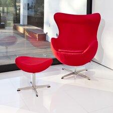 Mod Lounge Chair and Ottoman