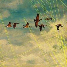 Abstract Birds in Flight #2 Framed Graphic Art