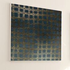 Woven Gold Stitch Framed Graphic Art