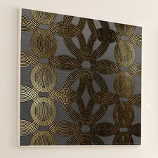 Woven Gold Ring Framed Graphic Art