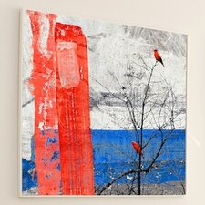 <strong>JORDAN CARLYLE</strong> Nature Red Striped Wall Art