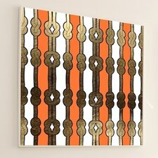 Woven Striped Knot #2 Framed Graphic Art
