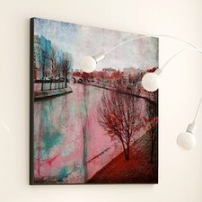 Landscape Paint It Red Wall Art