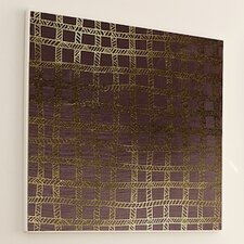 <strong>JORDAN CARLYLE</strong> Woven Gold Stitch #4 Wall Art