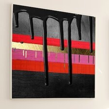 <strong>JORDAN CARLYLE</strong> Abstract Onyx Drizzle Wall Art