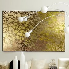 Abstract Golden Nest Wall Art