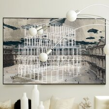 Architecture White Shell Framed Graphic Art