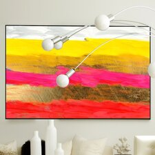 Abstract Downtown Framed Painting Print