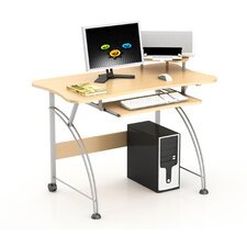 Laptop Computer Desk with Compact Design in Maple
