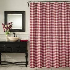 Classic Check Polyester Shower Curtain