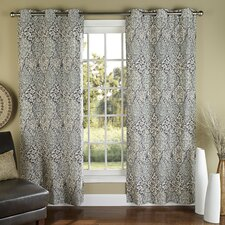 Istanbul Poly Duck Cloth Grommet Curtain Panel (Set of 2)
