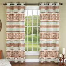 <strong>m.style</strong> Padova Printed Grommet Curtain Panel (Set of 2)
